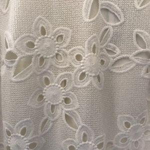 White Knit Detail Dress
